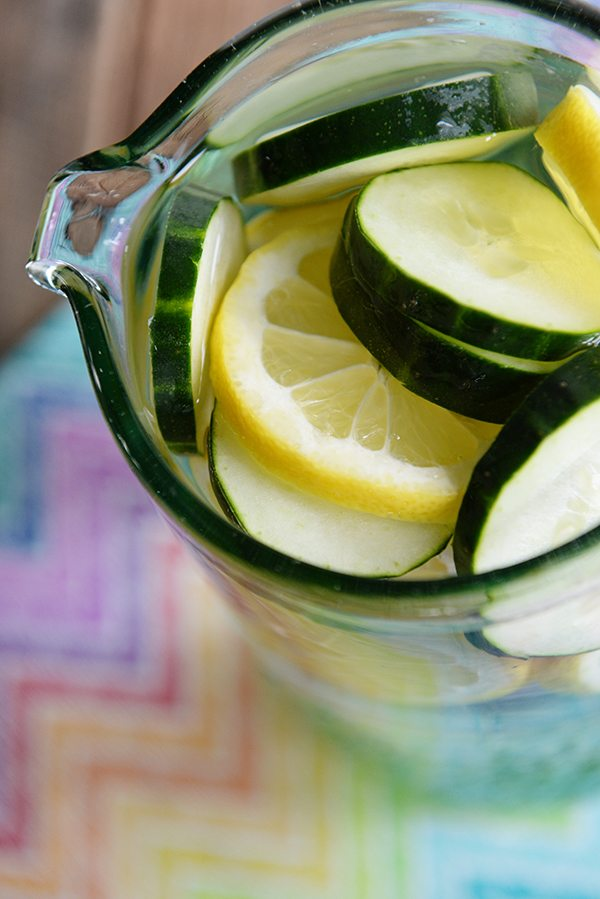 Spa Water with Citrus and Cucumber