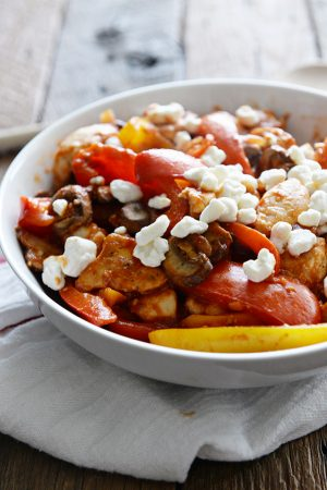 Weight Watchers Chicken Sauté with Peppers and Goat Cheese