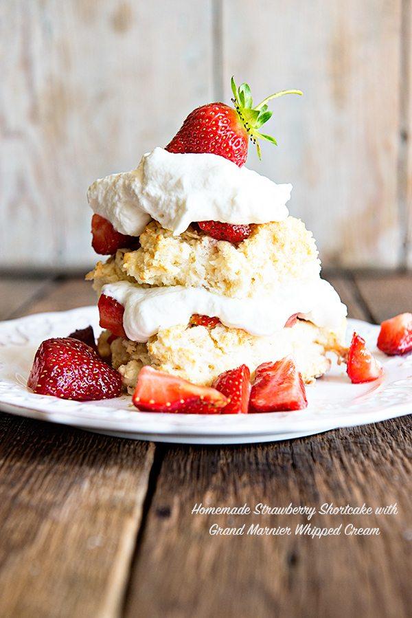 Strawberry Shortcake with Grand Marinier Whipped Cream