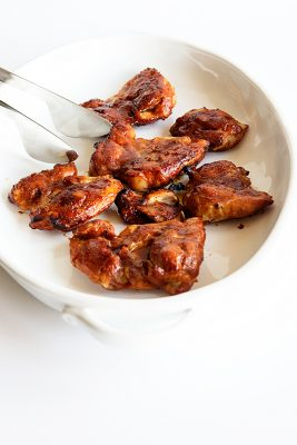 Honey BBQ Baked Chicken Thighs Recipe