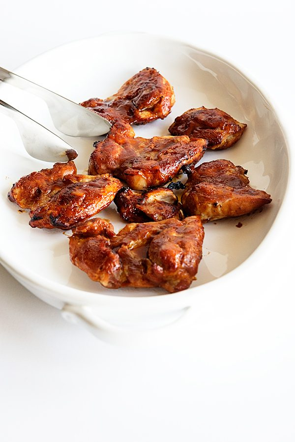 Honey Baked BBQ Chicken Thighs Recipe from dineanddish.net