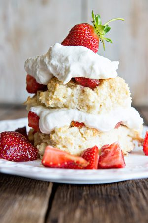 Homemade Strawberry Shortcake with Grand Marnier Whipped Cream