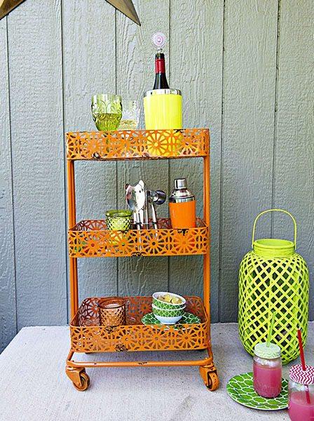 bar cart orange