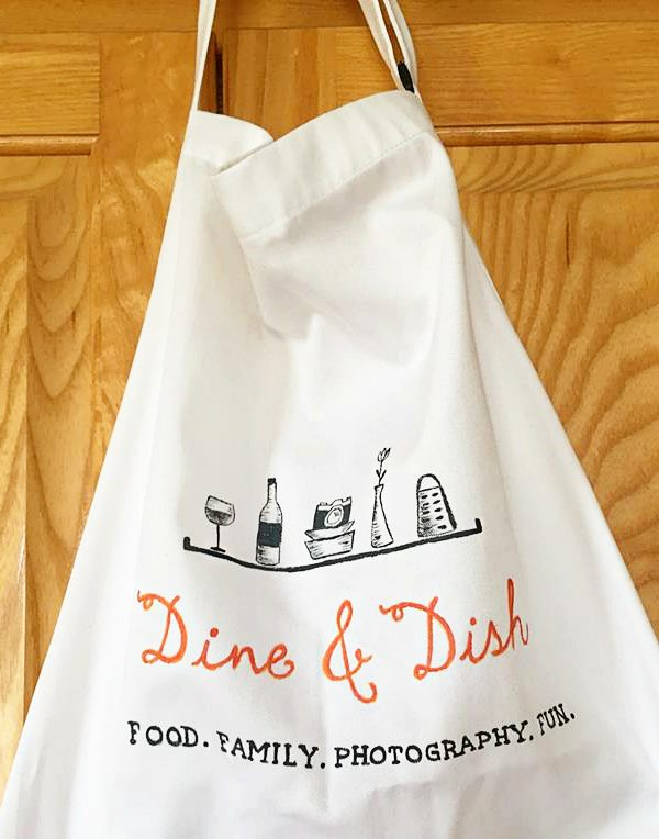 hand painted custom apron