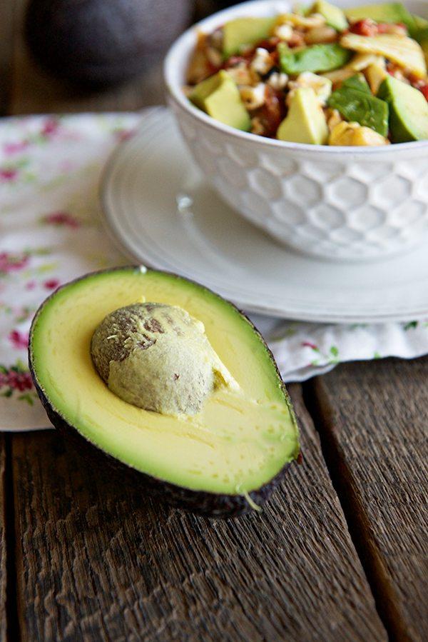 California Avocado Marinated Avocado Salad Recipe from dineanddish.net