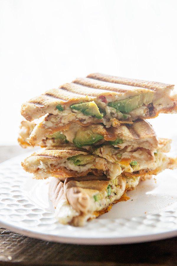 Food Truck Inspired Avocado and Pesto Panini