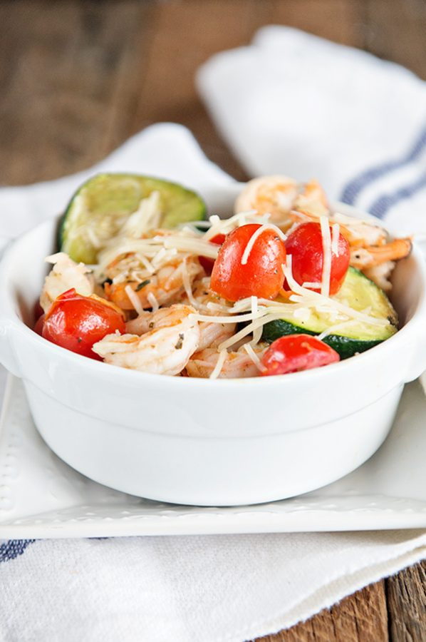Weight Watchers Zucchini and Shrimp Saute recipe on dineanddish.net