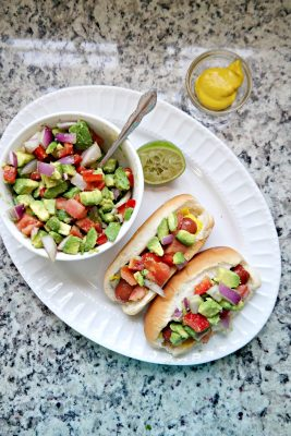 Grilled Hot Dogs with California Avocado Relish Recipe