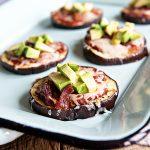 California Avocado Eggplant Pizza Recipe on dineanddish.net