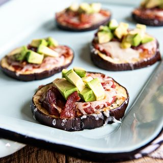 California Avocado Eggplant Pizza Recipe on dineanddish.net
