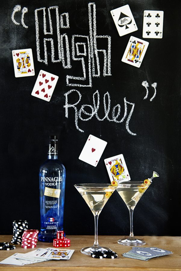 The High Roller Martini Recipe to celebrate National Vodka Day on dineanddish.net