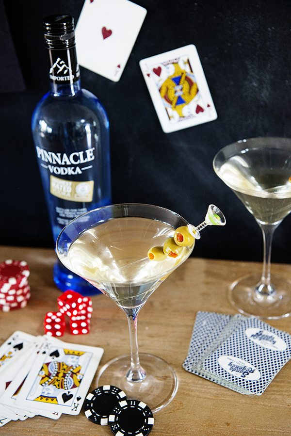 The High Roller Martini to celebrate National Vodka Day on October 4th