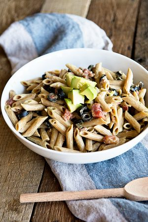 Side Dish: Pasta with Avocado Cream Sauce Recipe