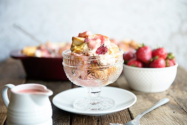 Strawberries and Cream French Toast Bake