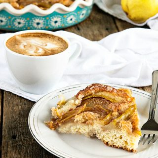 Cinnamon Pear Coffee Cake from dineanddish.net