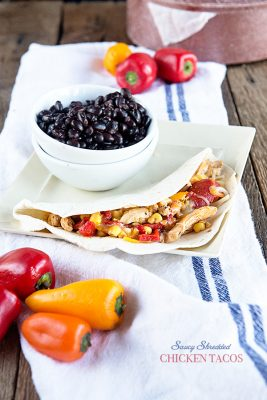 Express Lane Cooking {Recipe: Saucy Chicken Tacos}