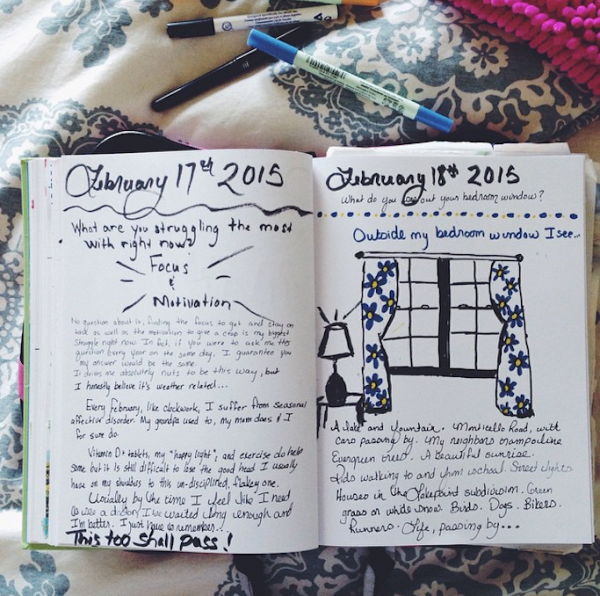 Journaling in the morning