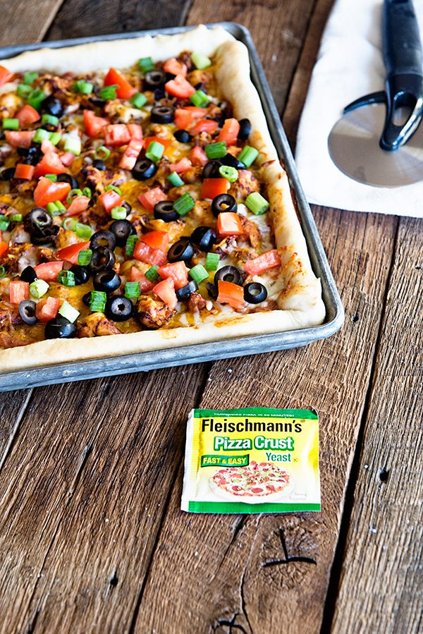 Chicken Nacho Pizza from dineanddish.net