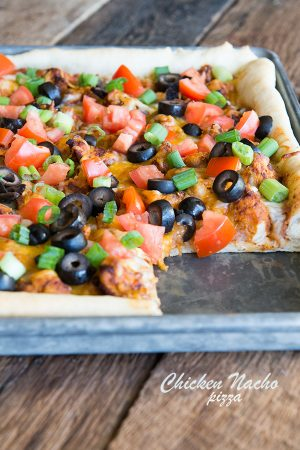 Chicken Nacho Homemade Pizza Recipe