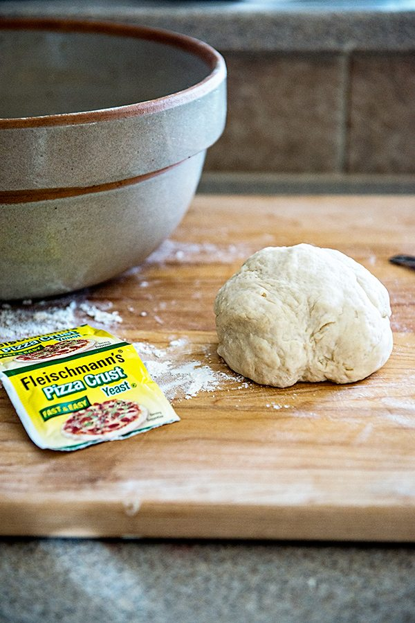 Homemade Pizza Dough using Fleischmann's Pizza Crust Yeast