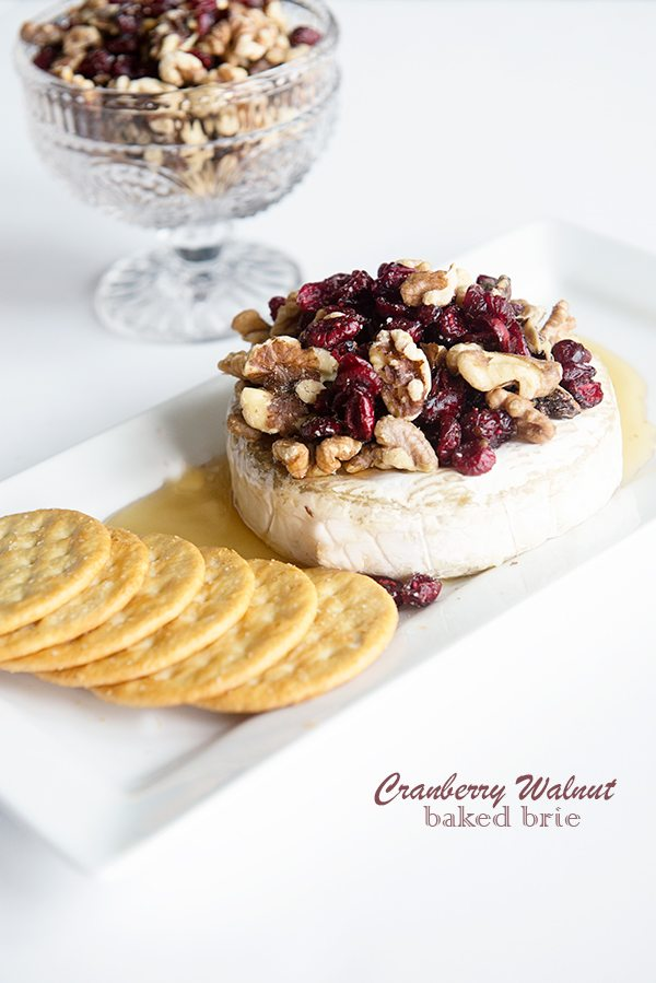 Cranberry Walnut Baked Brie Recipe on dineanddish.net