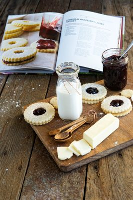 Raspberry Linzer Cookies Recipe from The Dairy Good Cookbook