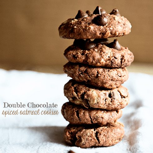 Double Chocolate Spiced Oatmeal Cookies Recipe from dineanddish.net