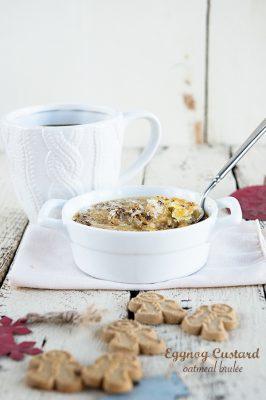 Eggnog Custard Oatmeal Brûlée Recipe