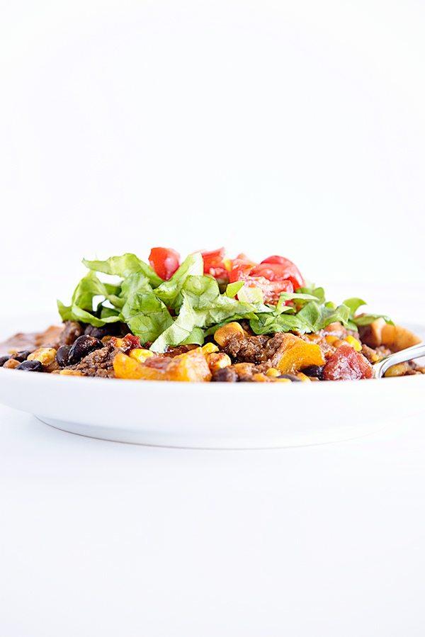 Enchilada Casserole Recipe on dineanddish.net
