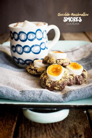 Chocolate Marshmallow S'Mores Cookies Recipe