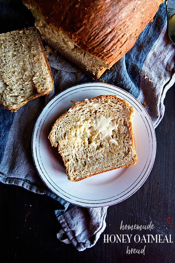Homemade Honey Oatmeal Bread Recipe on dineanddish.net