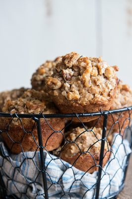 Hearty Muffin Recipe with Walnuts, Oats and Applesauce