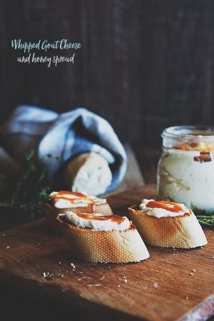Whipped Goat Cheese and Honey Spread {Weekly Reads}