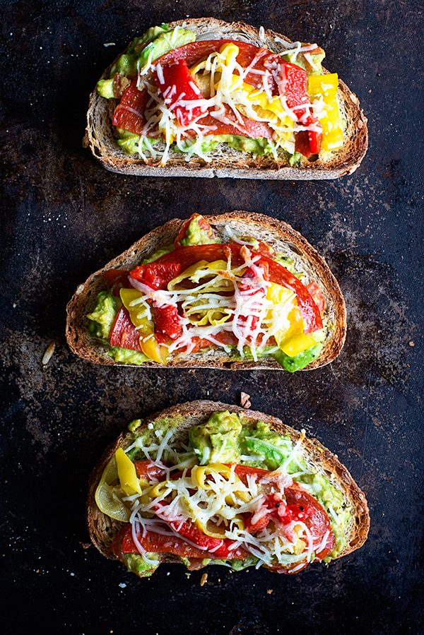 Lunchtime California Avocado Toast on dineanddish.net