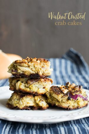 Walnut Crusted Crab Cakes aka When the Boys Are Sad