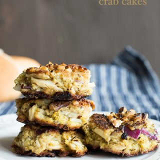 Walnut Crusted Crab Cakes from dineanddish.net
