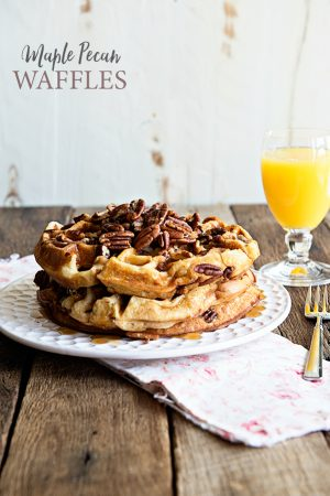 Maple Pecan Waffles Recipe