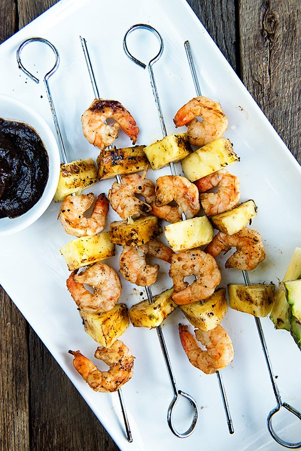 Spicy Habanero Grilled Pineapple Shrimp recipe on dineanddish.net