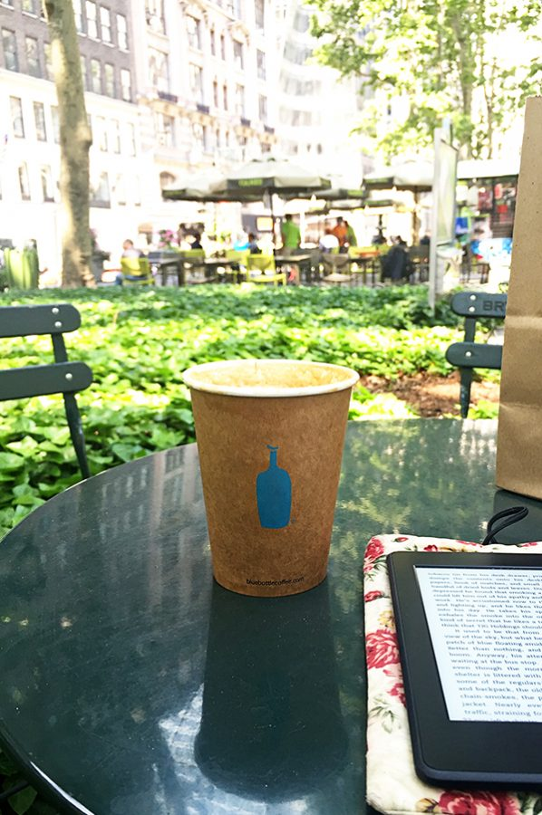Blue Bottle Coffee Roasters at Bryant Park in New York City
