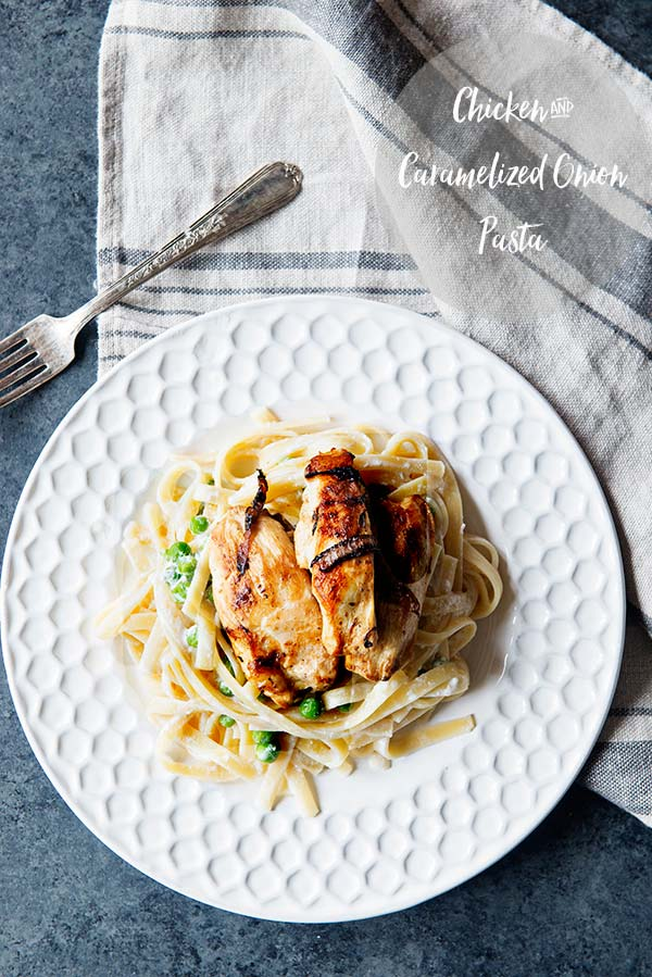 Simple Chicken and Caramelized Onion Pasta Recipe from the Five Ingredient Recipe Cookbook