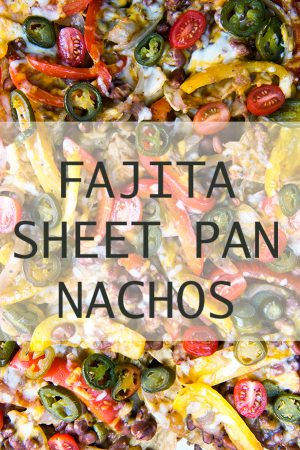 Veggie Fajita Sheet Pan Nachos Recipe