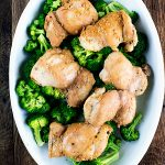 Soy Honey Chicken Thighs with Lemon Broccoli