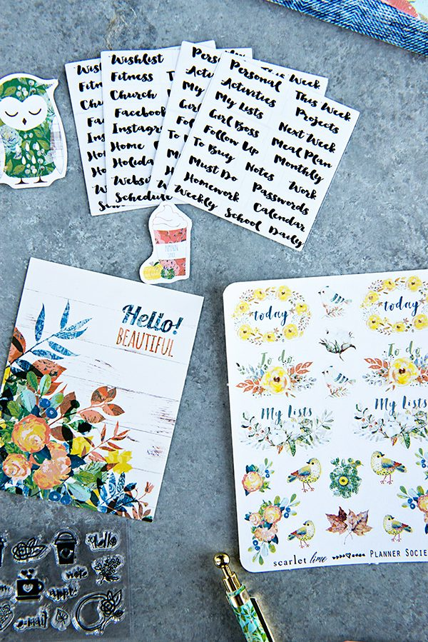 Planner Society Bullet Journal Embellishments Kit