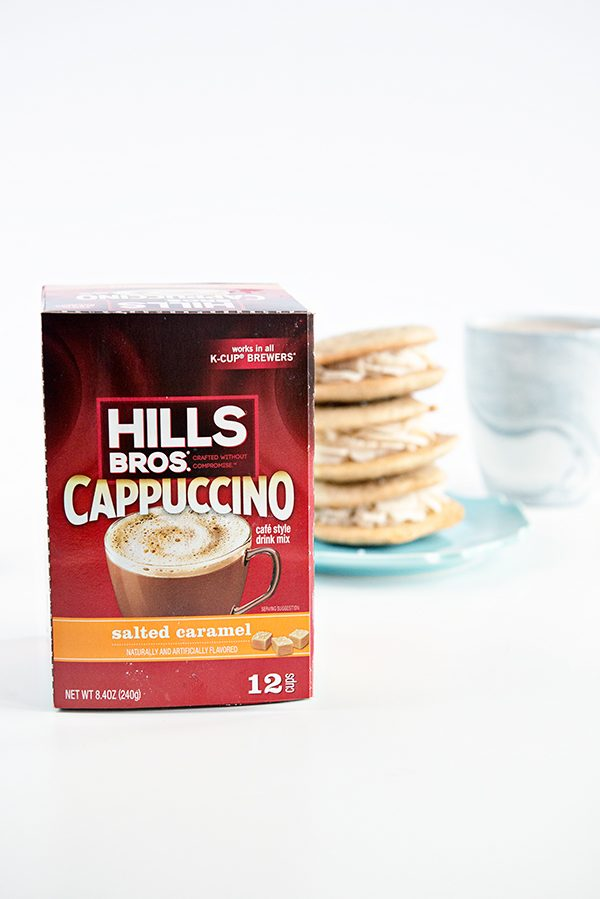 Hills Bros Cappuccino and Salted Caramel Cappuccino Sandwich Cookies