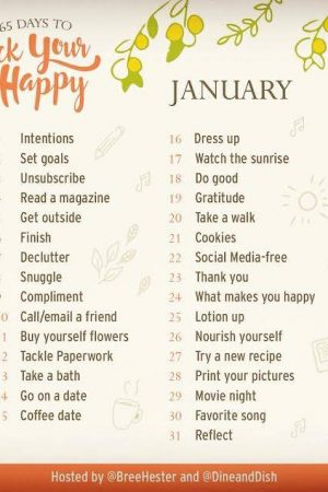 January 2017 Rock Your Happy Prompts