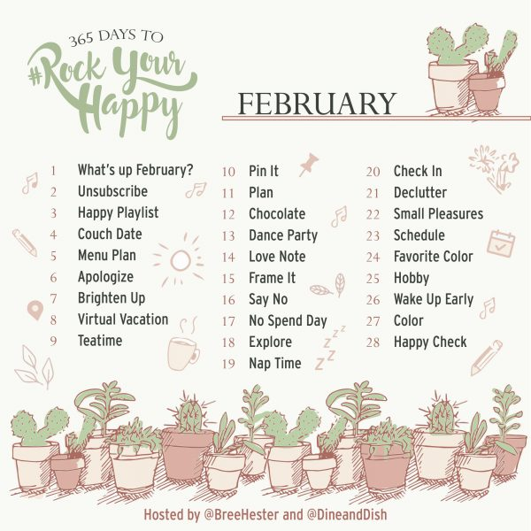 February Rock Your Happy Prompts