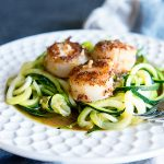 Simple Scallops Recipe Over Zucchini Noodles from dineanddish.net