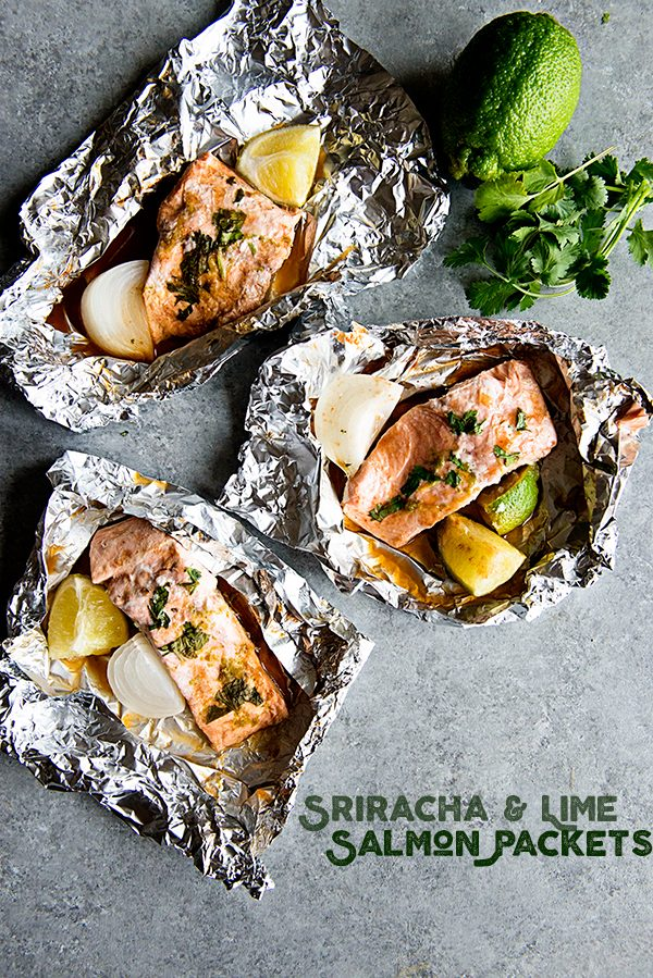 Sriracha Lime Salmon Packets Recipe from dineanddish.net