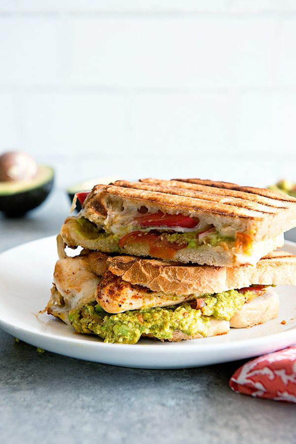 Southwest California Avocado Chicken Panini recipe