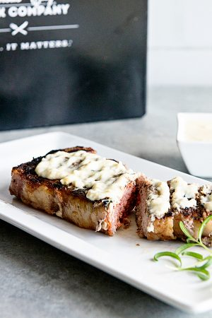 Steak with Rosemary Cream Sauce (The Kansas City Steak Company Giveaway)